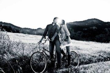 balade romantique à vélo